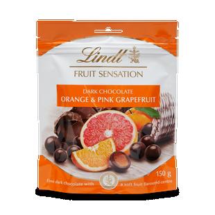 Lindt Fruit Sensation Orange & Pink Grapefruit 150g