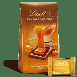 Lindt Milk Chocolate Caramel Squares 124g