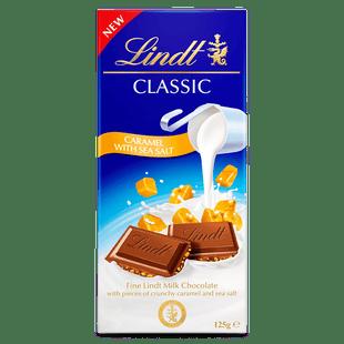 Lindt CLASSIC Caramel Sea Salt 125g