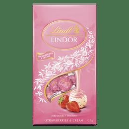 Lindt LINDOR Strawberries and Cream Bag 125g