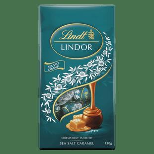 Lindt LINDOR Sea Salt Caramel Bag 130g