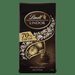 Lindt LINDOR 70% Cocoa Bag 123g