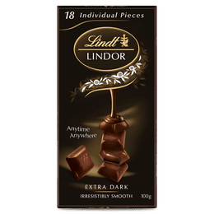 Lindt LINDOR Extra Dark Block 100g