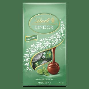 Lindt LINDOR Milk Mint Bag 123g