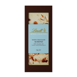 Lindt Artisan Collection White Almond Block 90g