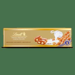 Lindt Gold Block Milk Hazelnut 300g
