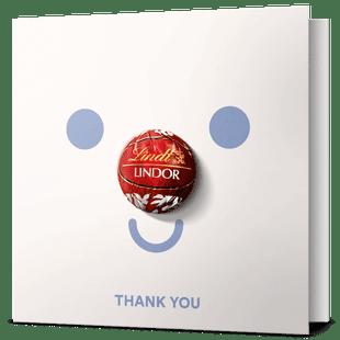 LINDOR Thank You Greeting Card 12.5g